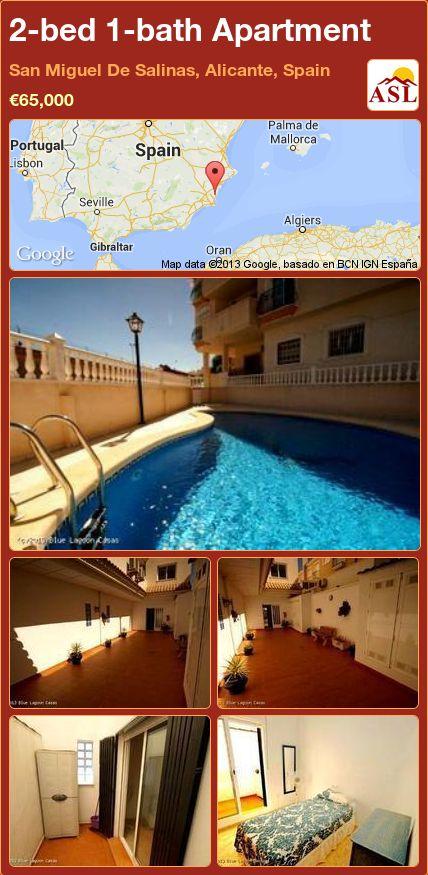 2-bed 1-bath Apartment in San Miguel De Salinas, Alicante, Spain ►€65,000 #PropertyForSaleInSpain