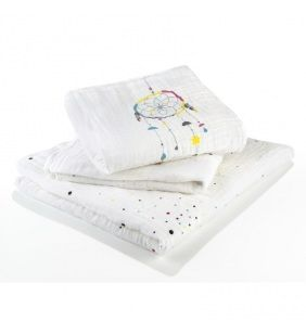 Bavlnené mušelínové plienky Babymoov - Dream Set 3ks