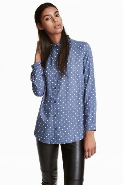 1 Es H De Camisa Azullunares Mujer amp;m Viscosa an0qF