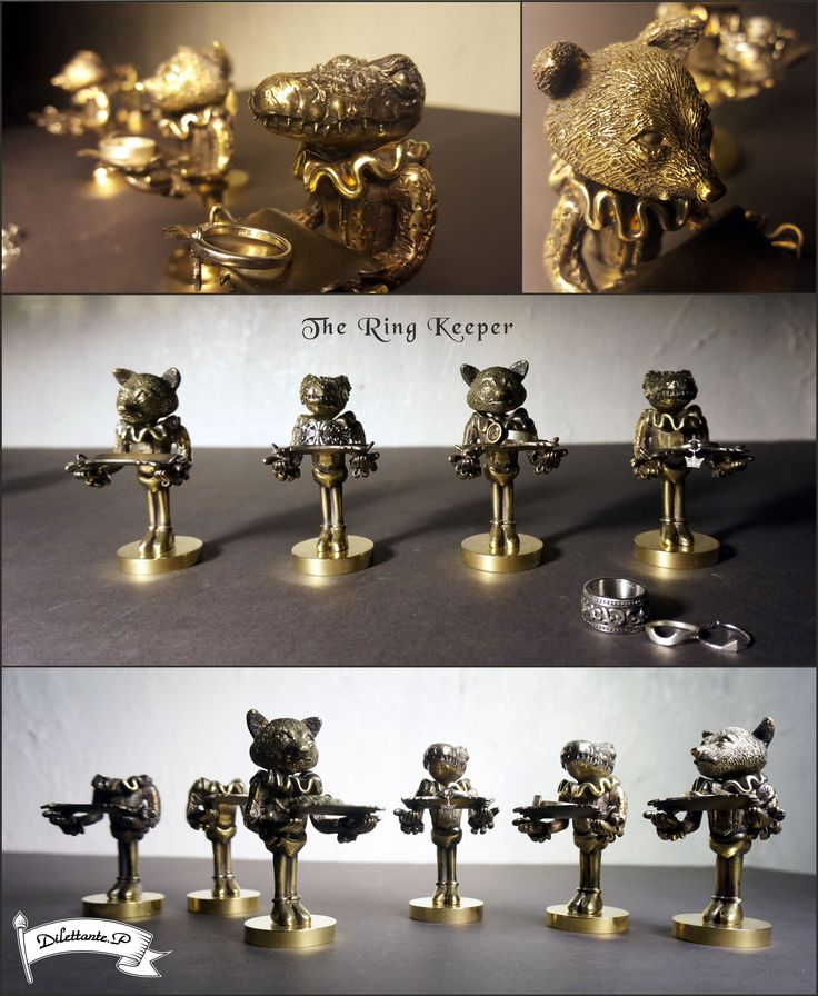 The Ring Keeper ! #ring #arttoy #figure #keeper #keep #store #craft #storage #jewelry #ornament #support