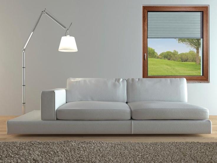 Finestra in legno-alluminio con avvolgibile e cassonetto esterno (ALPIfinestra K40)