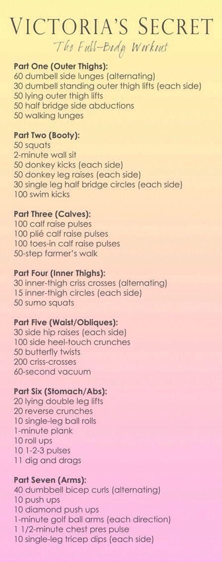 Victoria's Secret Model Full-Body Workout