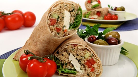 Tabbouleh Pita Pockets with Feta and Cucumber
