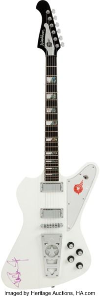 Musical Instruments:Electric Guitars, Paul Stanley Signed 2012 Washburn Starfire PS-2012 Electric Guitar....