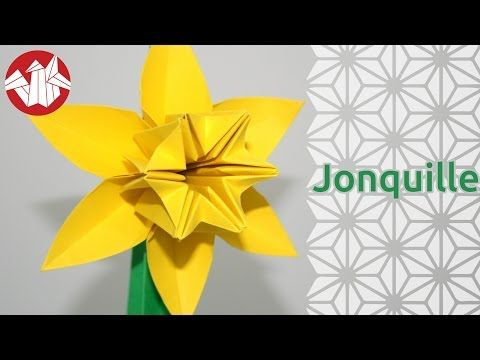 117 best paper projects origami images on pinterest origami origami narcissus flower youtube mightylinksfo