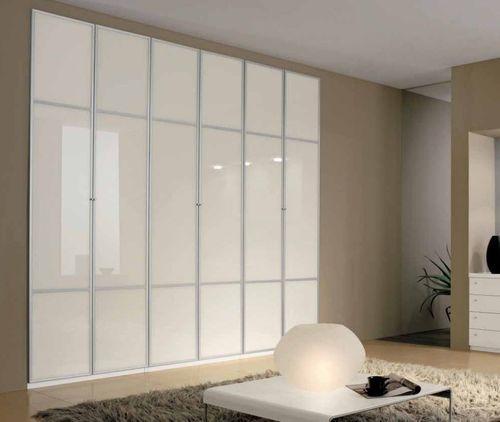 Contemporary wardrobe / glass / lacquered glass / sliding door 110 A Marka Industria Mobili