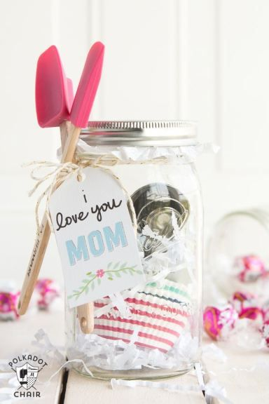 Baking themed Mason Jar Gift  - perfect for a last minute gift!