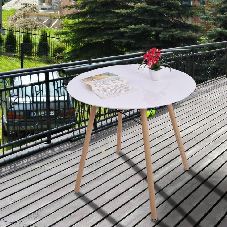 Round Patio Table Outdoor Kitchen Dining Table Furniture Garden Outside Yard