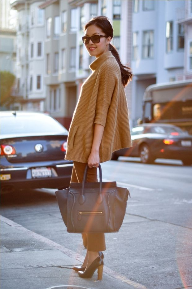 so classySweaters, Camel, Fall Style, Chic, Celine Bags, Capes, Fall Looks, Fall Fashion, Fall Outfit