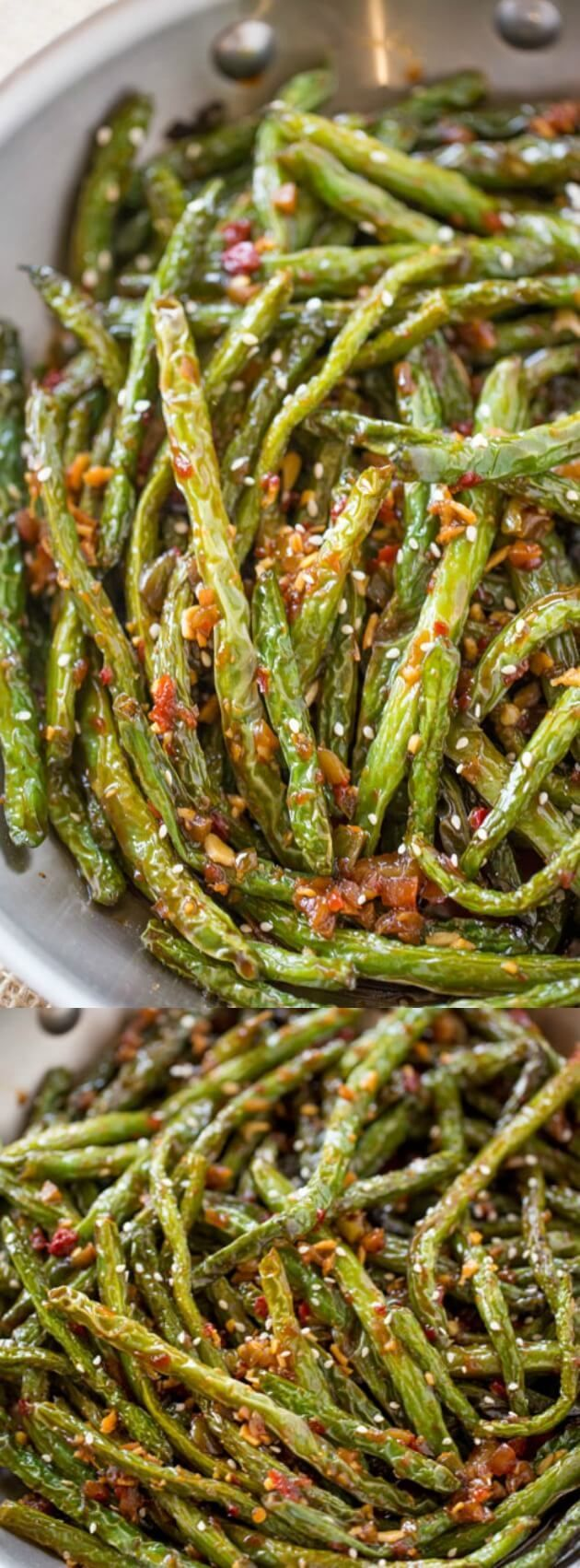 These Spicy Chinese Sichuan Green Beans from Dinner, then Dessert are the perfect easy side dish to your favorite Chinese meal! They are a breeze to make and have only a few ingredients!