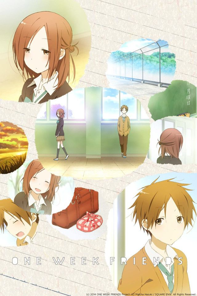 One Week Friends anime . It's adorable