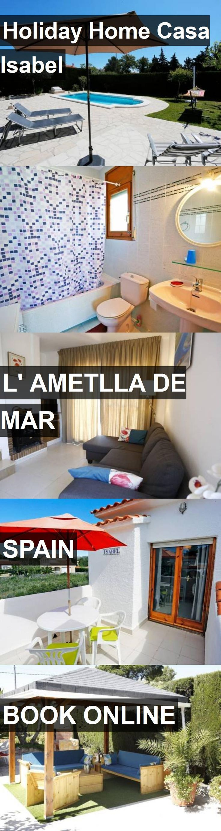 Hotel Holiday Home Casa Isabel in l' Ametlla de Mar, Spain. For more information, photos, reviews and best prices please follow the link. #Spain #l'AmetlladeMar #travel #vacation #hotel