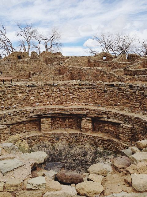 Aztec Ruins National Monument, New Mexico by kevinrussmobile.  Early American settlers mistook the ruins as Aztec.  They actually were constructed by the Anasazi in the 11th to 13th centuries.  The ruins are a UNESCO World Heritage site.