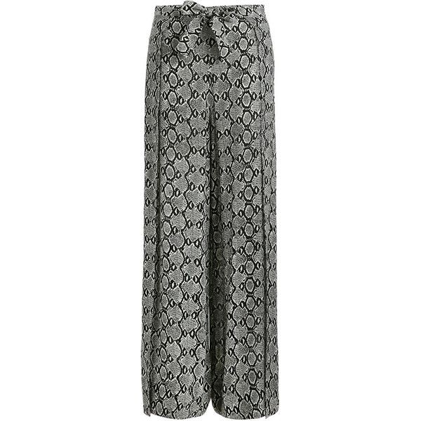 Zimmermann Hyper Cobra Split Pant ($375) ❤ liked on Polyvore featuring pants, swimming pants, snake print pants, snake skin pants, snakeskin print pants and womens trousers