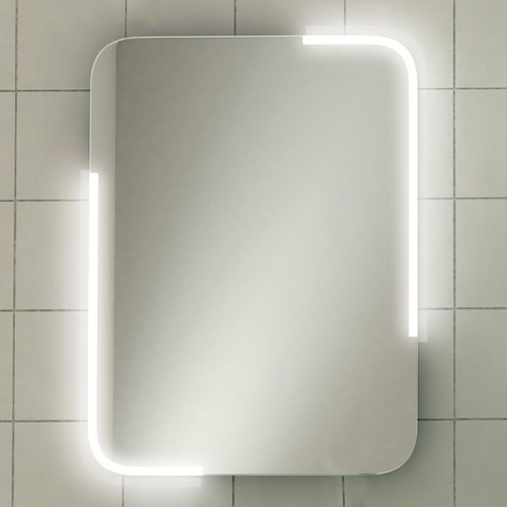 Stunning feature LED illuminated mirror with softly curved corners Sensor switch turns on\/off the LED lighting Heated demister pad for a steam free mirror Can be hung in a portrait or landscape orientation  Available in two sizes