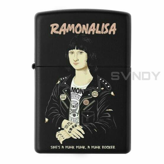 Ramones Monalisa Parody Zippo Black Matte