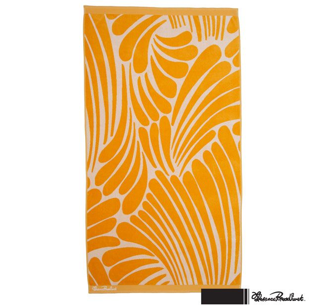 Florence Broadhurst Fingers 100x180cm Beach Towel Yellow
