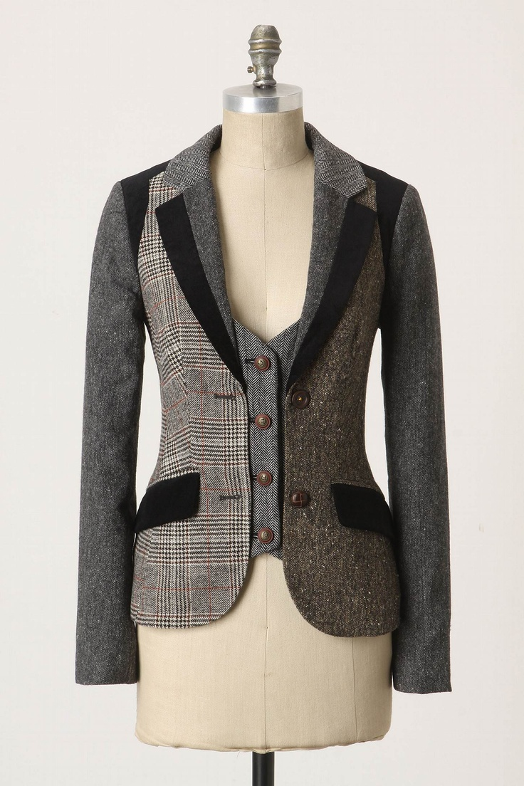 Anthropologie Alma Mater Jacket $158.00 - good way to make a too small jacket fit ...
