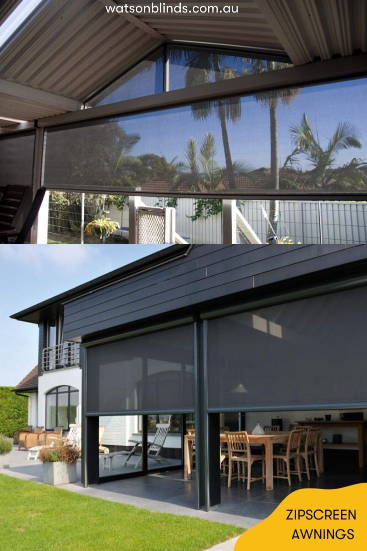 Zipscreen Awnings In 2020 Outdoor Blinds Modern Window Treatments Outdoor Awnings