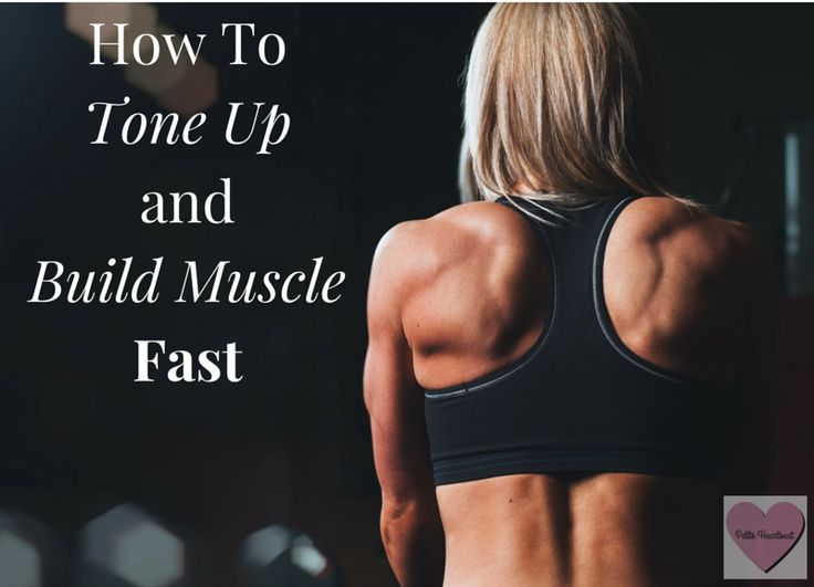The easiest way I have found to tone up and build muscle fast is by increasing the weight that I lift, and how often I lift.