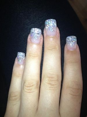 Silver Tips Nails by TARIKISA