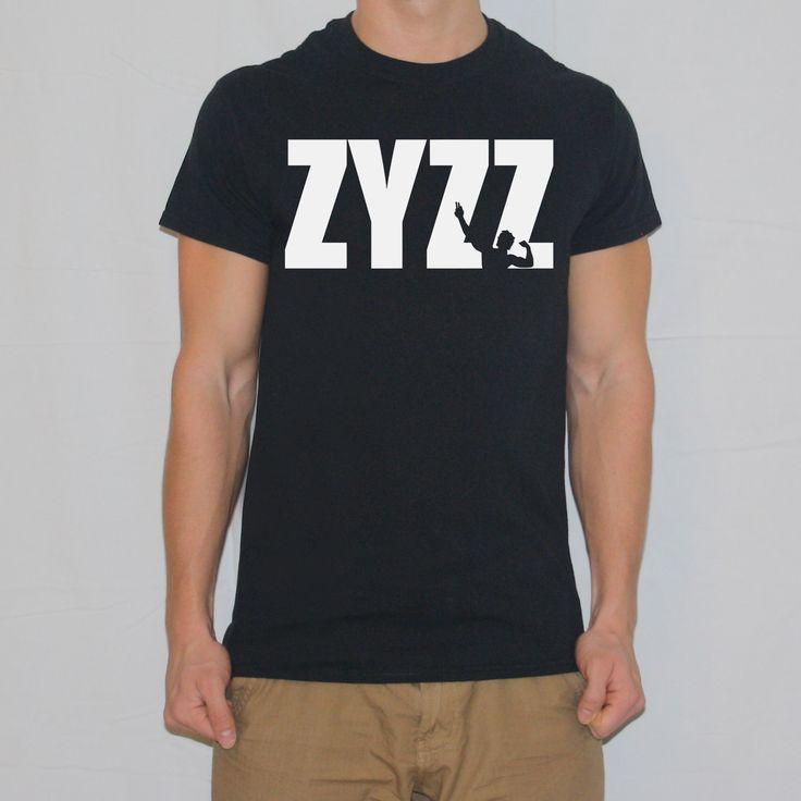 Zyzz Pose Text T-shirt designed by Ripped Generation! #Zyzz #RippedGeneration #GymWear #GymApparel #ZyzzPose