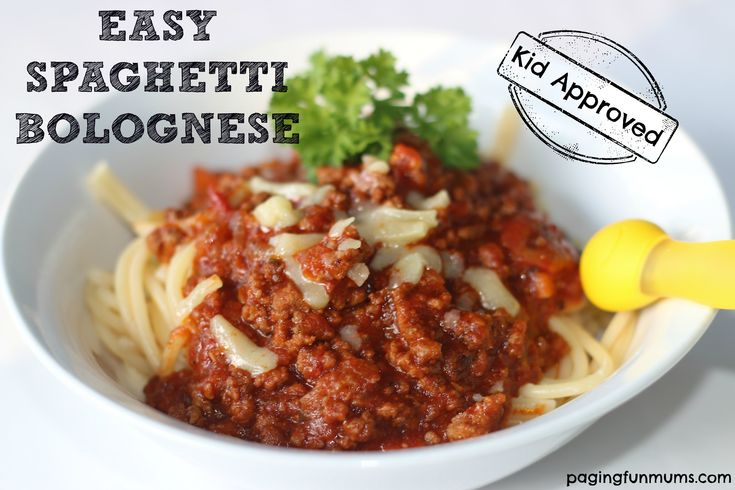 Easy spaghetti bolognese, Bolognese recipe and Spaghetti bolognese on ...