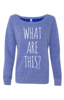 What Are This? Girl's Sweatshirt (Blue Tri-Blend) Outerwear - JennaMarbles Outerwear - Online Store on District Lines