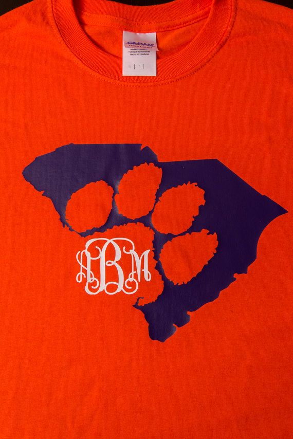 Monogram Clemson Shirt   Perfect for Clemson Fans!