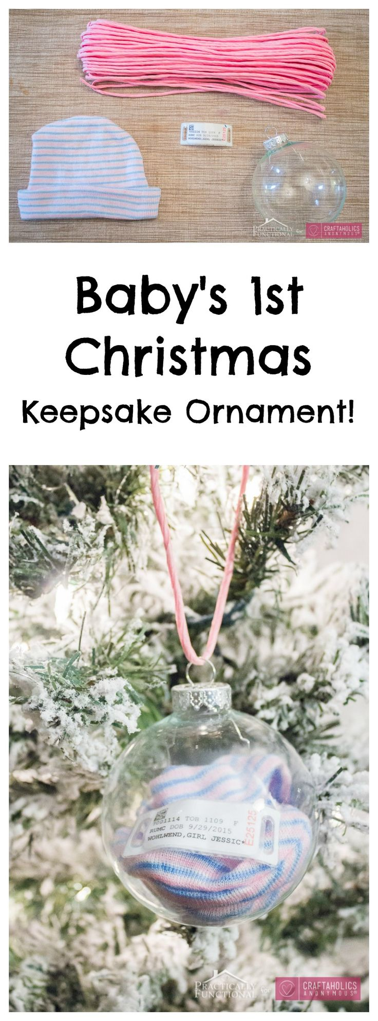Handmade Baby's First Christmas Ornament idea + awesome keepsake! This is one that will be treasured forever!