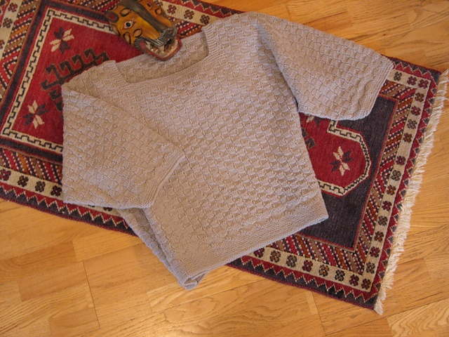 Denmark Pullover with Simple Patterns by Donna Druchunas