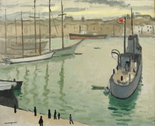 Albert Marquet (French, 1875-1947), Marseille, le bateau japonais [Marseille, the Japanese Boat], 1916. Oil on canvas, 60 x 73.5 cm.