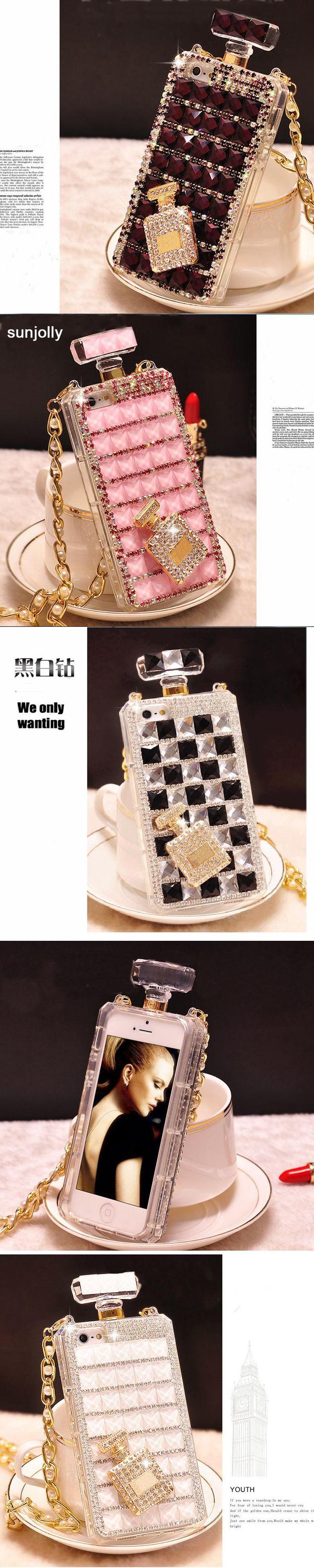 Sunjolly Chain Diamond Case TPU Rhinestone Bling Cover Diamante Funda Coque Capa Para for iPhone X 8 7 6s/6 Plus 5S 5 5C SE 4S
