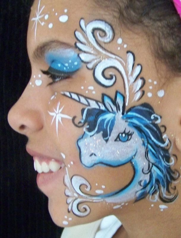 face painting unicorn cheek art