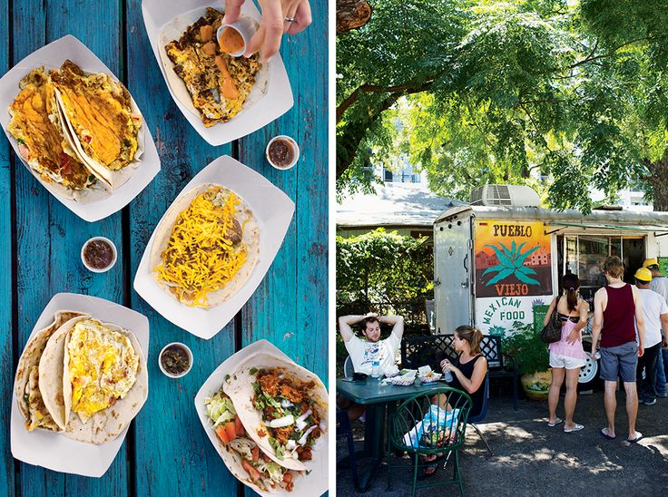 Where to Find the Best Tacos in Austin - Bon Appétit. Left: Maria's Taco Xpress; Right: Pueblo Viejo.