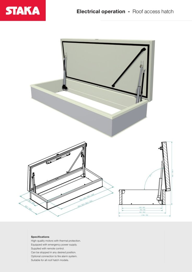 Consult Staka Bouwproducten B.u0027s Electrical Operation Roof Access Hatch  Brochure On ArchiExpo.