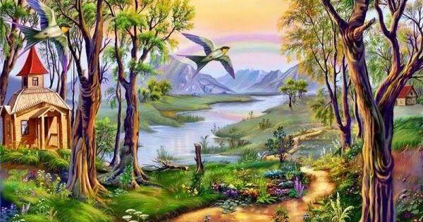 28 Contoh Lukisan Pemandangan Yang Mudah 9 Lukisan Pemandangan Yang Cantik Sangat Sangat Download 22 Konsep Lukisan Pemandang Di 2020 Pemandangan Painting Gambar