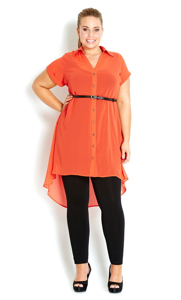 City Chic - KOI GIRL TUNIC SHIRT