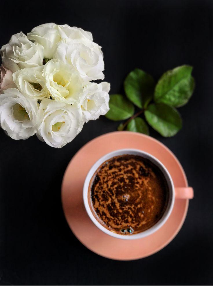Картинки с цветами и кофе