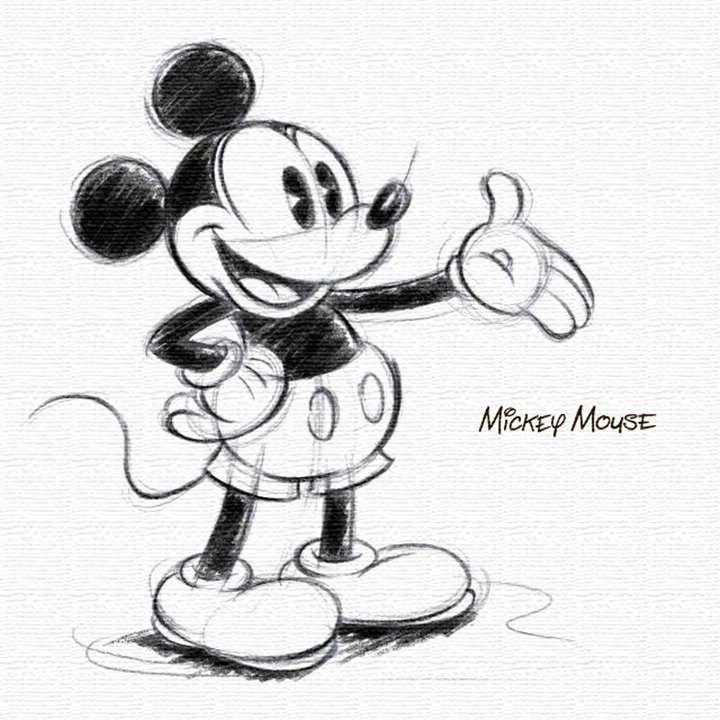ミッキーのファブリックパネル 壁かけインテリア Disney 小物 Dsn 0146 ネズミ イラスト ミッキーマウスアート ディズニーキャラの イラスト