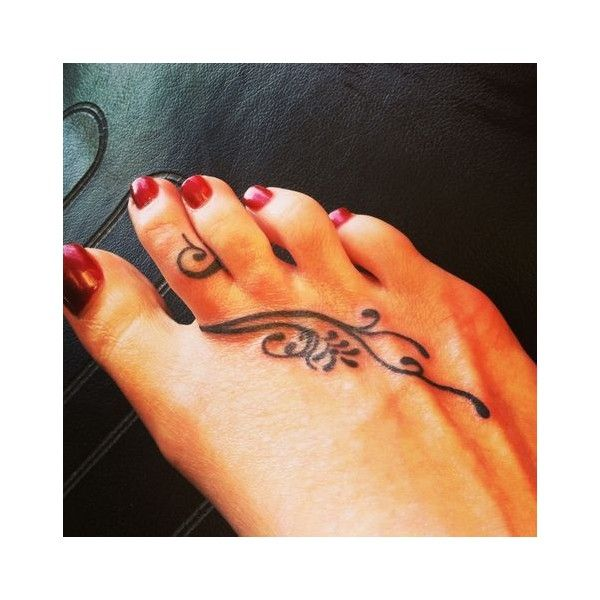 Foot Tattoos found on Polyvore featuring polyvore, women's fashion, accessories and body art