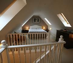 attic conversion with bed space/stairs
