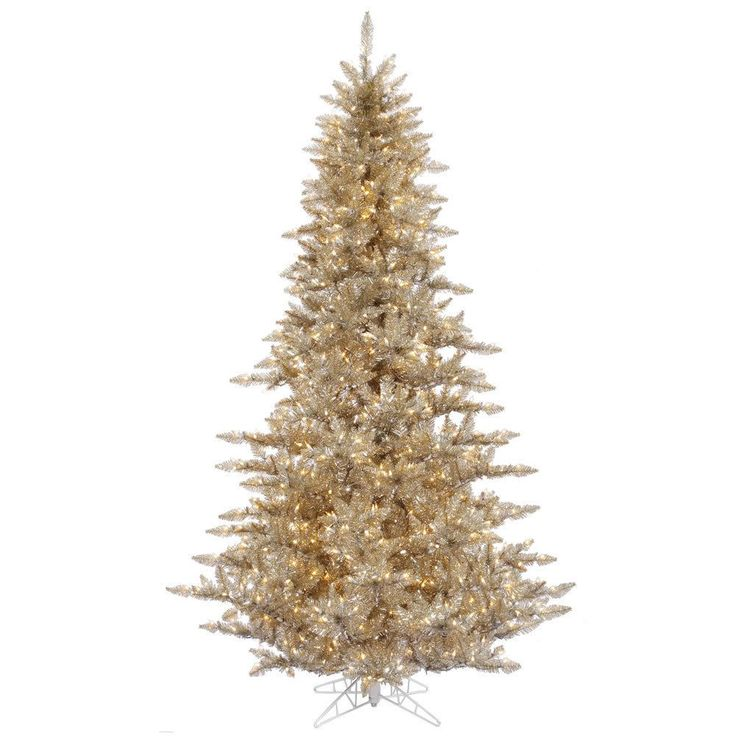 vickerman brown plastic 3 foot champagne fir artificial christmas tree with 100 warm white led - 3 Foot White Christmas Tree