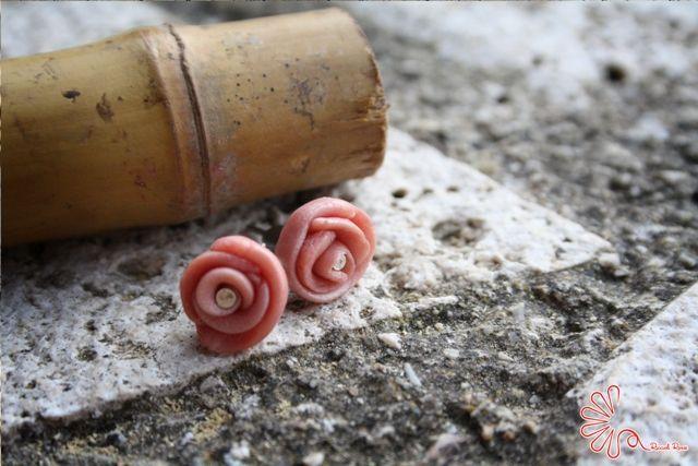 #rose #pink #orecchini