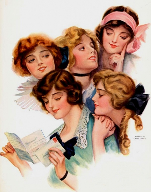 F. Earl Christy cover of The Ladies' Home Journal February 1914: