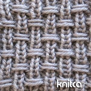 Right side of knitting stitch pattern – Slip Stitch 14 : www.knitca.com