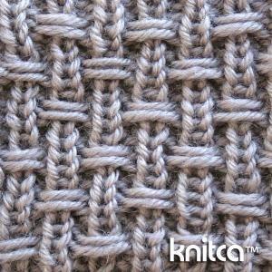 Right side of knitting stitch pattern   Slip Stitch 14 : www.knitca.com