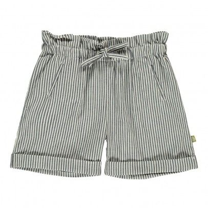 Lauren Striped Chambray Shorts Chambray Grey  Nui