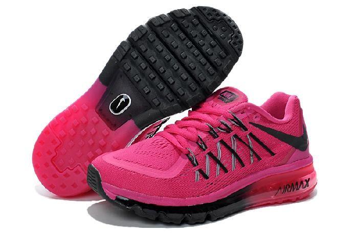 Acheter La Mode Bon Nike Air Max 2015 Running Chaussureson Vente Femmes Black Chaussures et Belle Noir Air Max
