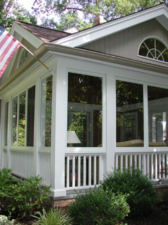 Enclosed porch from my front porch looking in pinterest for Enclosed front porch pictures